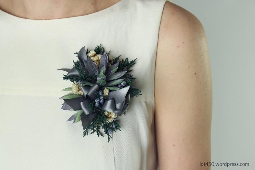 artificial succulent corsage