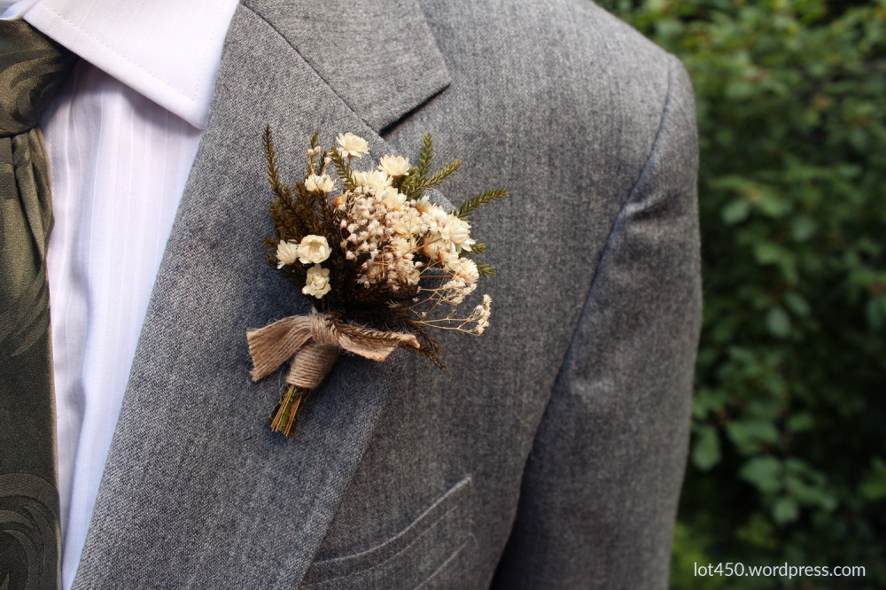 Dry Flower Wedding Boutonniere