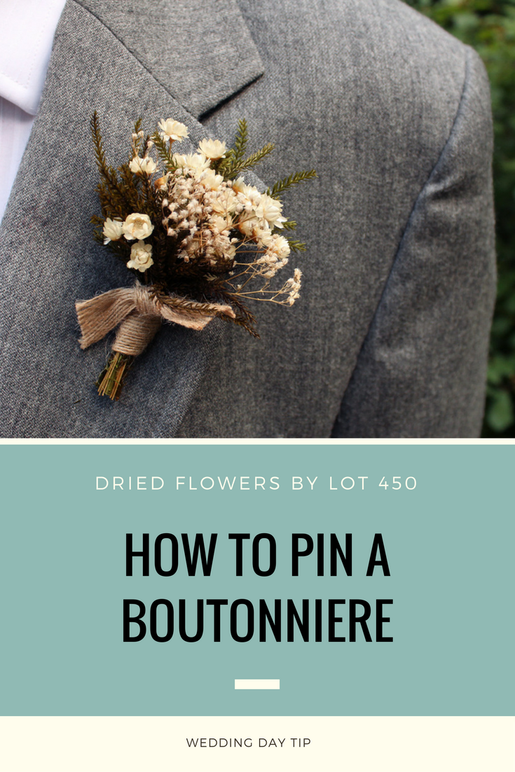 How to Pin on a Boutonniere