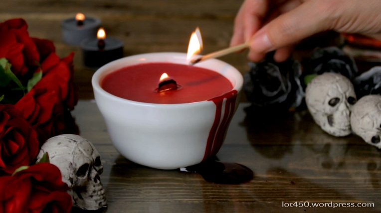 Bloody Candle for Halloween