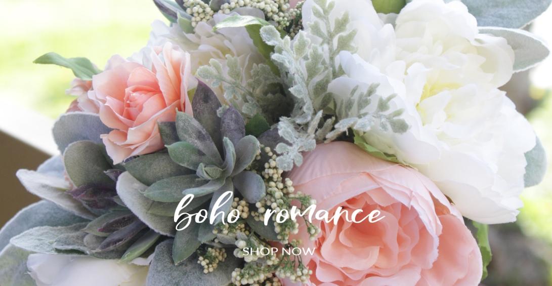 Boho Romance Silk Bride Bouquet