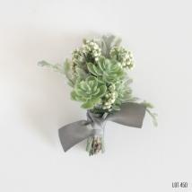 Artificial Succulent Boutonniere