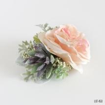 Faux Peach Rose Succulent Corsage