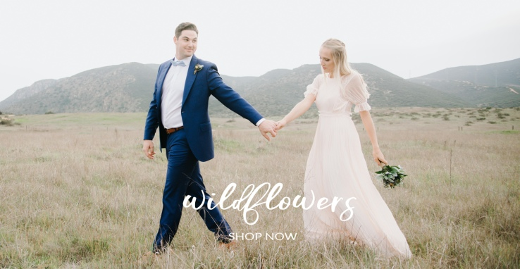 Wildflower Wedding Couple