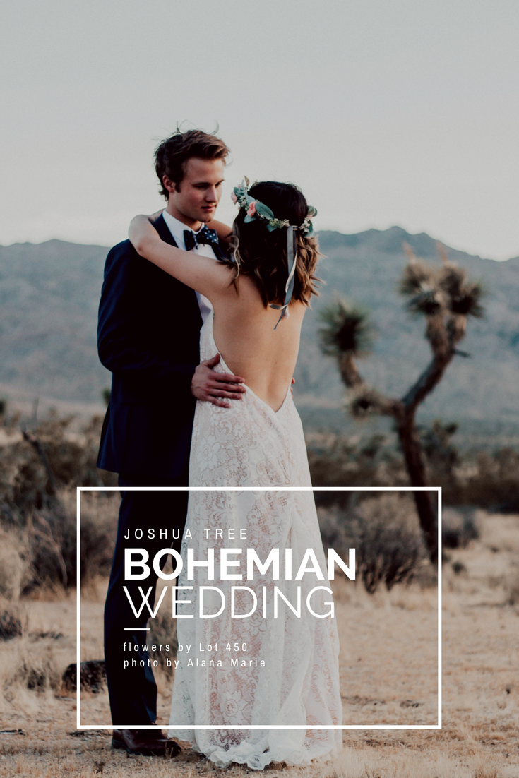 Bohemian Wedding Couple in Joshua Tree